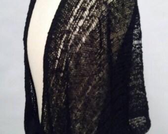Vintage 70's Shrug Black Tie Waist Shrug