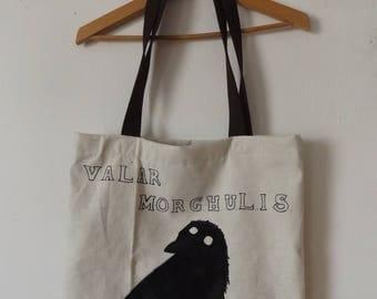 Tote Bag white Valar Morghulis