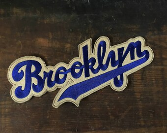 Vintage Brooklyn Patch, Brooklyn Dodgers, Varsity Letter, New York, Sew On Patch, Blue