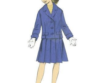 1960s Girls Pleated Skirt and Jacket Pattern Ringier g71940 Size 12