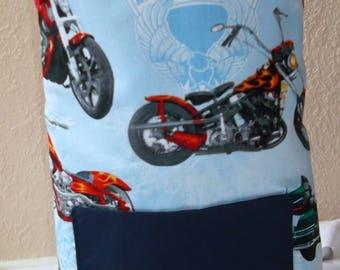 Motorcycle Print Kids Apron