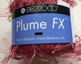 Berroco Plume FX, Knit Along Effect Yarn,  Rose Novelty Yarn