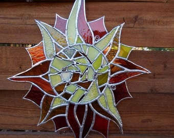 Stained Glass Sun-Suncatcher-Unique Gifts-Glass Art-Window Decor-Birthday-Housewarming-Anniversary-Wedding-Christmas-Gift for her or him