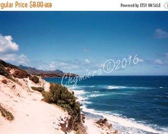Sand & Sea.  Photography Giclée Print. Sky Photography. High Noon Tides. Crashing Waves in Kauai, Hawaii. Seascape