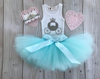 Cinderella Birthday Dress Tutu Outfit for Baby Girls, Tiara for Baby Girls, 1st Birthday Dress, Cake Smash Tutus, Cakesmash