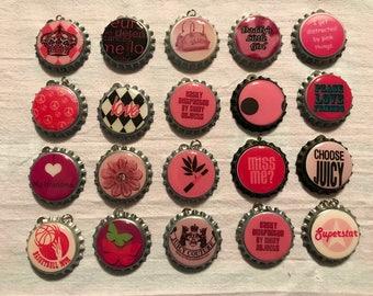 "Bottle caps ""Pink"""