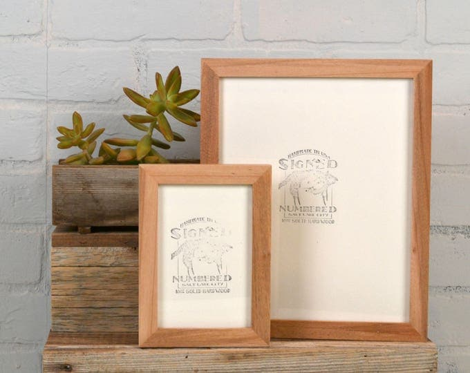 BASIC Picture Frame - Natural WILLOW Solid Hardwood Gallery Wall Frames - Choose Size: 3x3, 3.5x5, 4x4, 4x5, 4x6, 5x5, 5x7, 6x6, 7x7, 4x10