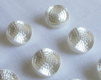 12 elegant large  festive  wavy  glass buttons   ( 22.5 mm 7 / 8 in.)