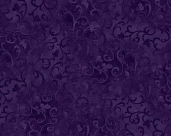 Purple Scroll Fabric Quilting Fabric by the yard Quilt Cotton Sewing Fabrics 89025 699 Farmhouse scrolls quilts