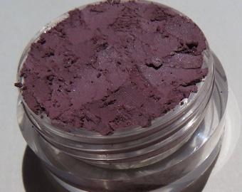 Dark Burgundy Brown Vegan Mineral Eyeshadow   Slight Shimmer   Loose Powder  Cruelty-Free   Pure Mineral Eye Shadow - Quiet Time