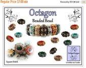 ON SALE Beading Pattern, Tutorial, Beaded Bead - OCTAGON