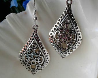 Silver Filagree Earrings