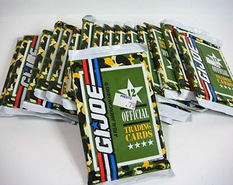 16 Packages G I Joe Trading Cards 1991 Unopened Packages