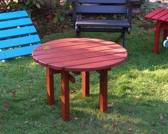 Colorful Cedar Outdoor Coffee Table For Patio, Deck & Garden - Local Pickup Only - Custom Outdoor Furniture by Laughing Creek