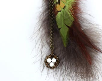 Bird nest necklace, nest charm, birds nest necklace, gift for moms, custom nest