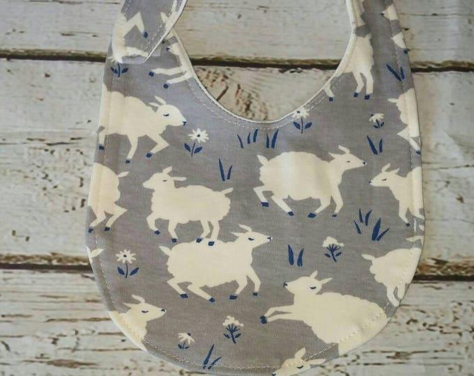 Gray Sheep Organic Cotton Baby Bib