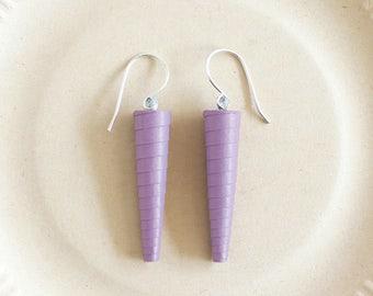 Lilac earrings • Lavender earrings • Light purple earrings • Mauve earrings • Lilac drop earrings • Lavender drop earrings • Dangle earrings