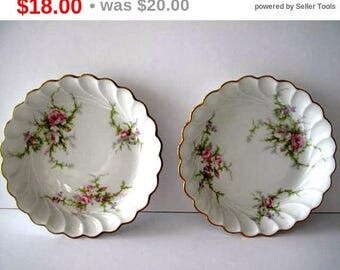 Haviland Limoges Fluted Saucers Estate China France Collectible China