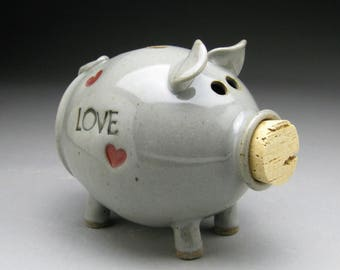 Personalized Piggy Bank  with Hearts