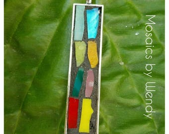 Mosaic pendant multi colored