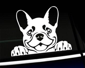 Peeking Frenchy -  French Bulldog decal
