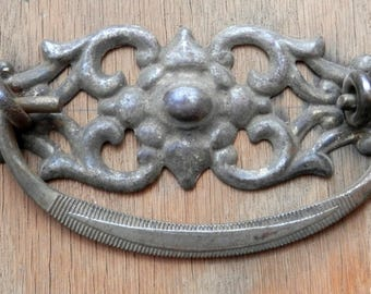 set of 8 matching antique drawer pulls, 3 inch centers