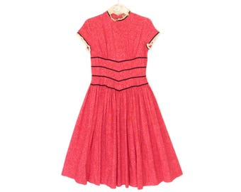 Vintage Girls Dress * 40s Party Dress * 1940s Child's Dress * size 8 / 10