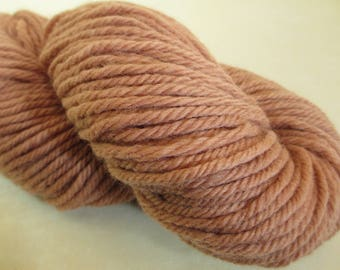 Hand-Dyed Bulky Yarn - Willow Bark Plant Dye - 9 Year Anniversary Gift - 100% Wool - YAB101734 - 100 grams