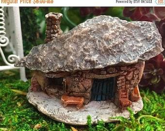 SALE Mini Micro Rock Top House, Fairy Garden Accessory, Mini Fairy Troll House Style 17446, Miniature Garden Decor, Topper, Shelf Sitter