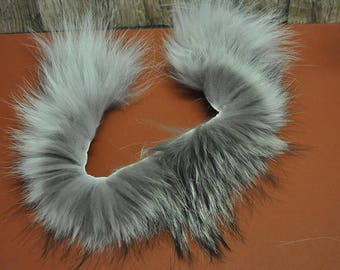 Real Beautiful Strip of Timber Wolf Fur - 18 inches