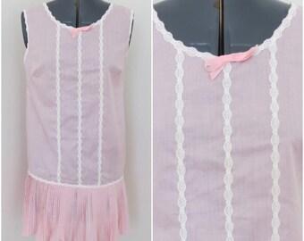 1960s Sweet Pink Nighty & Panties - Lingerie Set - Bust 34