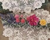 Black Sage, Mugwort, Lavender, Rose and Wild Flowers Smudging Stick, Organic Grown