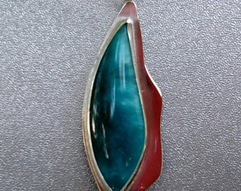 Australian Man-made Starburst Stone Pendant