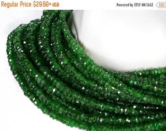 ON SALE Tsavorite Garnet Beads Faceted Rondelles Green Garnet Roundels Earth Mined Semi Precious Gem - 3.5 or 7-Inch Strand    2.8 to 4mm