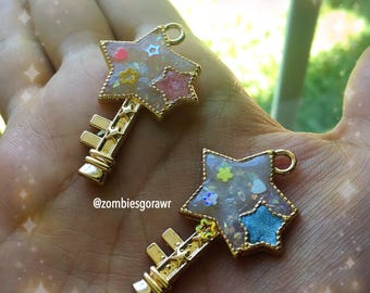 Opal Star Key Pendants