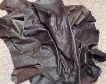 OSM813.   Assortment of Brown Laser Etched Leather Lambskins