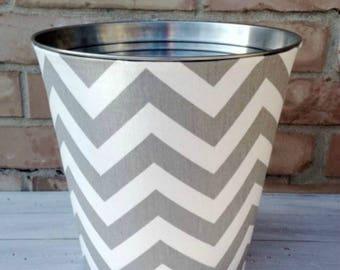 Choose Your Chevron Fabric Wastebasket