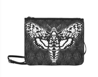 Death Moth Clutch with Shoulder Strap