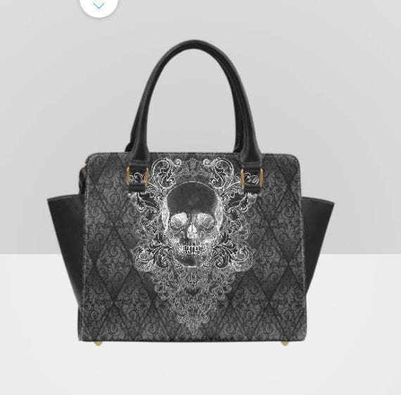 Baroque Skull Shoulder Handbag