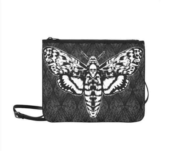 Death Moth Clutch with Shoulder Strap