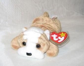 TY Beanie Baby Wrinkles the Bulldog tag error - 117b