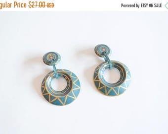 25% off Storewide // Vintage HANDPAINTED wood earrings