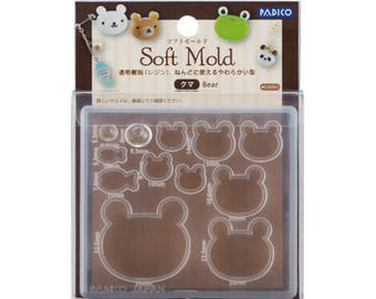 Padico Soft Clay and UV Resin Mold Soft Mold  Bear (PP) from Japan - Accessories/ Charm/ Fake sweets /  bag accessories 403050