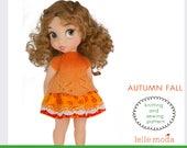 "Knitting Pattern - Sewing Pattern - for  Disney Animators 16"" dolls - Girl Doll Halloween Costume  Dress"