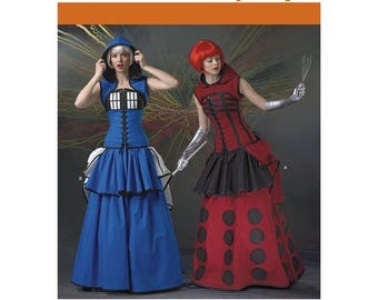 On Sale Pick Your Size - Simplicity Costume Pattern 1095 by LORIANN - Misses' Elaborate Cosplay Costumes in Two Options - Loriann Costume De