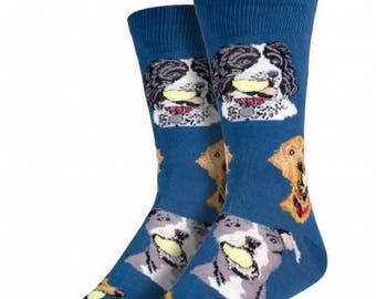 Mens Dog Socks