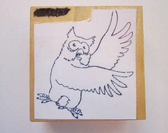 rubber stamp - OWL - owl stamp
