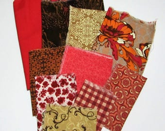Fabric scrap pack- Vintage inspired- More than 2 yards- stash builder- quilting- scrap pack- designer- remnants- cotton