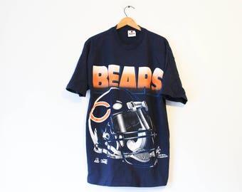 Vintage Chicago Illinois Bears Football T Shirt