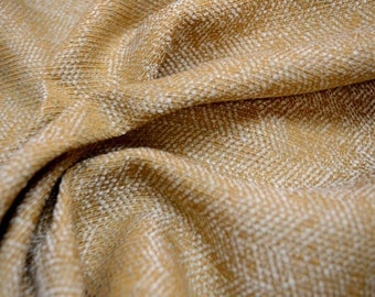Gold Ivory Textured Fabric